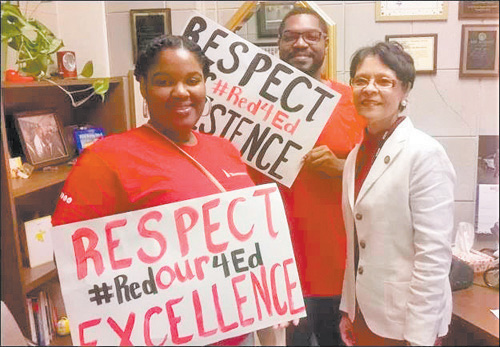 Local teachers participate in recent education rally