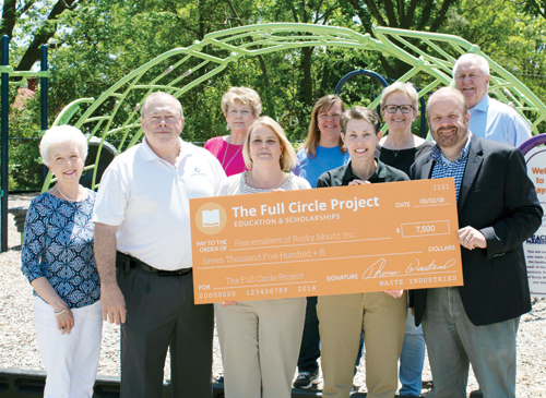 Waste Industries donates $7,500 to Peacemakers