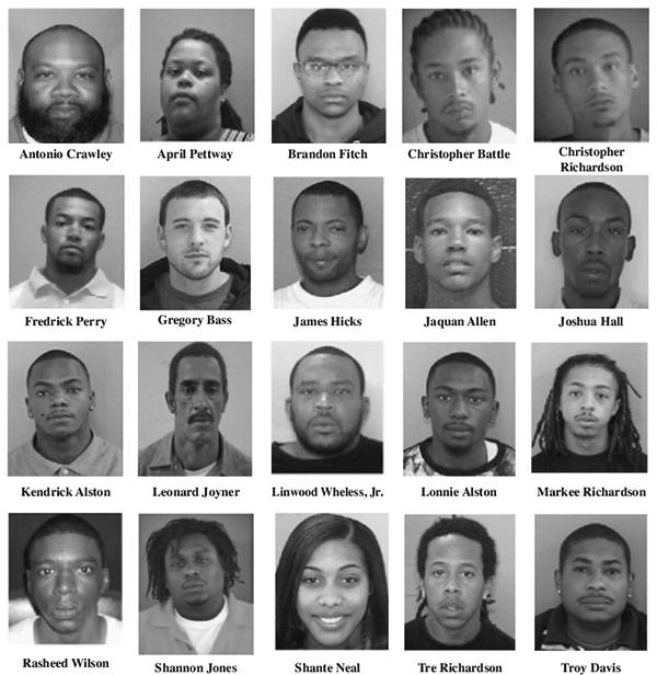 Task Force operation nets 21 arrests